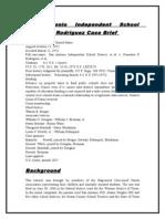 San Antonio Independent School District v. Rodriguez Case Brief .doc