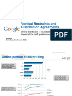 Vertical Restraints and Distribution Agreements, 30.09.2009, Online distribution – roundtable discussion - Impact of the draft guidelines on online advertising