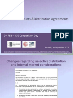 Vertical Restraints and Distribution Agreements, 30.09.2009