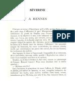 Séverine, « Mirbeau à Rennes »