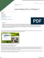 Instalar e usar o Modo Windows XP no Windows7