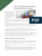 Consigli Posizionamento Google 2014 SEO Tecniche