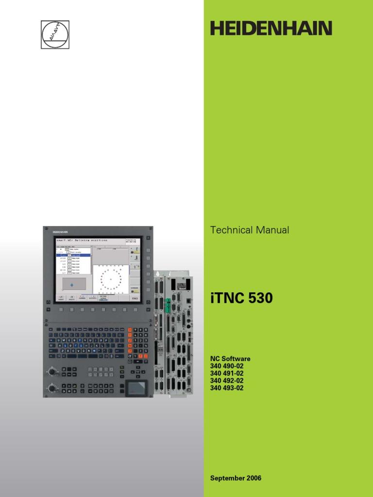 technical manual itnc530 english programmable logic controller rh es scribd com HEIDENHAIN Scales HEIDENHAIN Digital Readout