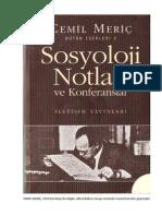 Cemil Meriç - Sosyoloji Notları