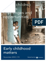 Young Children in Cities Challenges and Opportunities