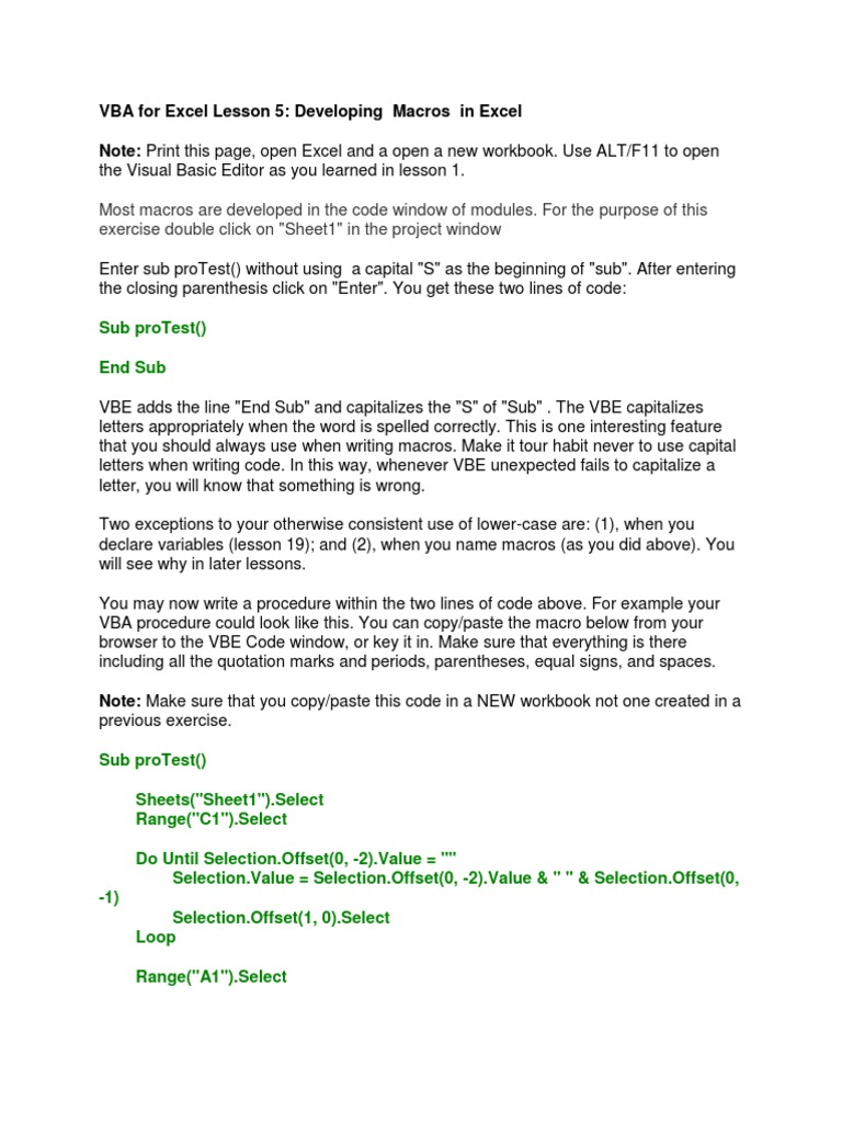 Workbooks open excel workbook vba : VBA for Excel Lesson 5 | Macro (Computer Science) | Microsoft Excel