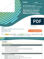 Agenda Un Water Conference Water and Energy