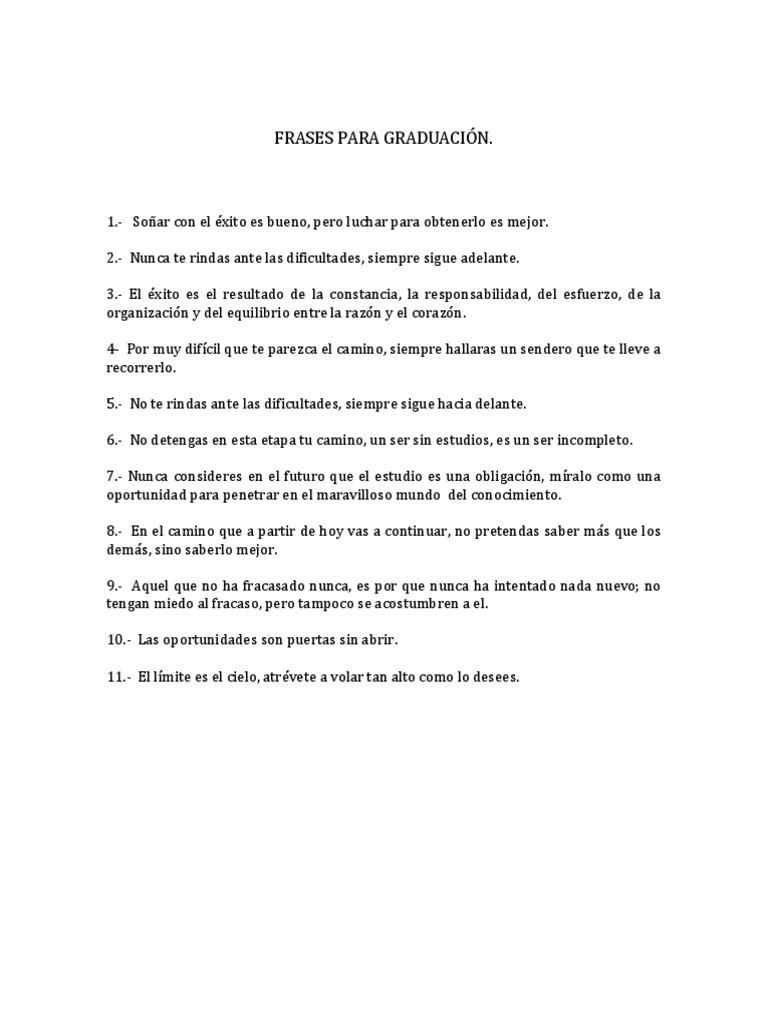 Frases Para Graduación Educación Primaria Disturbios