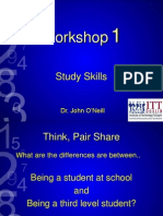 Study Skills lectures from 18th March 2014