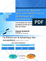 La place du discours dans une théorie sur la dynamique des conventions