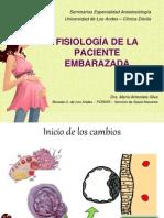 FISIOLOGÍA DE LA PACIENTE EMBARAZADA