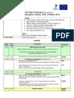 Agenda of the 2nd LAK Data Challenge at LAK14, Indianapolis, USA