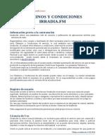 Terminos y Condiciones Irradia