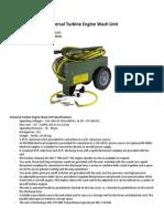Universal Turbine Engine Wash Unit 21C2438G01, 4940-01-185-6215