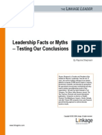 Rayona Sharpnack Leadership Facts or Myths Testing Our Conclusions 1102