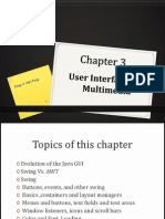 Chapter 3 - GUI and Multimedia