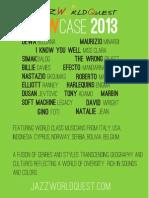 JazzWorldQuest - Showcase 2013 Updated
