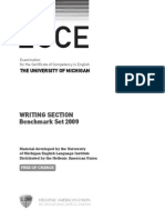 Ecce writing section