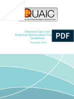 Quaic Intensive Care Unit Empirical Anti Treatment Guidelines