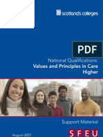 Higher Care -Unit 3- Values and Principles