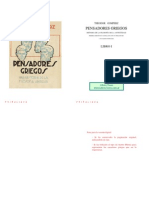 Gomperz, Theodor - Pensadores Griegos Libro 1