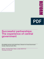 Partnership in Central Government