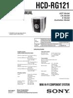 HCD RG121+Sony+Audio