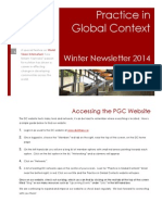 Practice in Global Context (PGC)  Newsletter Winter 2014 Edition