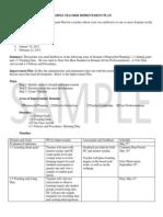 sample teacher improvement plan
