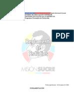Reglamento de estudios Misión Sucre