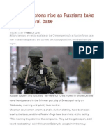 Crimea Tensions Rise as Russians Take Ukraine Naval Base