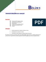 5-transistörlerin dc analizi