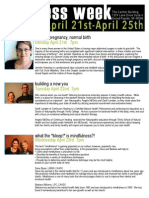 Wellness Week Events April 2014