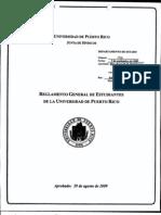 Reglamento General de Estudiantes UPR