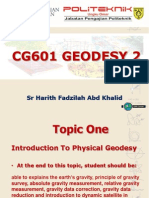 Cg601 Geodesy 2 Topic 1