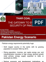 AJAZ ALI KHAN Secy Coal & Energy Dept. Sindh Govt., Thar Coal