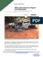 07-03-2014 - Novo cangaço - Roubo a banco - RIACHINHO
