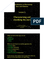 Lecture 2. Characterising and Classifying the Stars