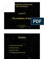 Lecture 3. The Evolution of the Stars