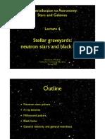 Lecture 4. Stellar Graveyards- White Dwarfs, NS & BH