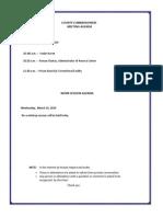 Lebanon County Commissioners agenda 3/18