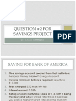 savings project powerpoint