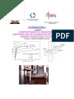 HORMIGON I-Tema 3 Comportamiento, Resistencia y Deformación de Elementos de  Hormigón Armados Sometidos a Flexión.