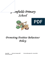 Greenfields Primary School - Promoting Positive Behaviour Policy 2014