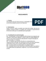 Regulamento ABM 2014V1