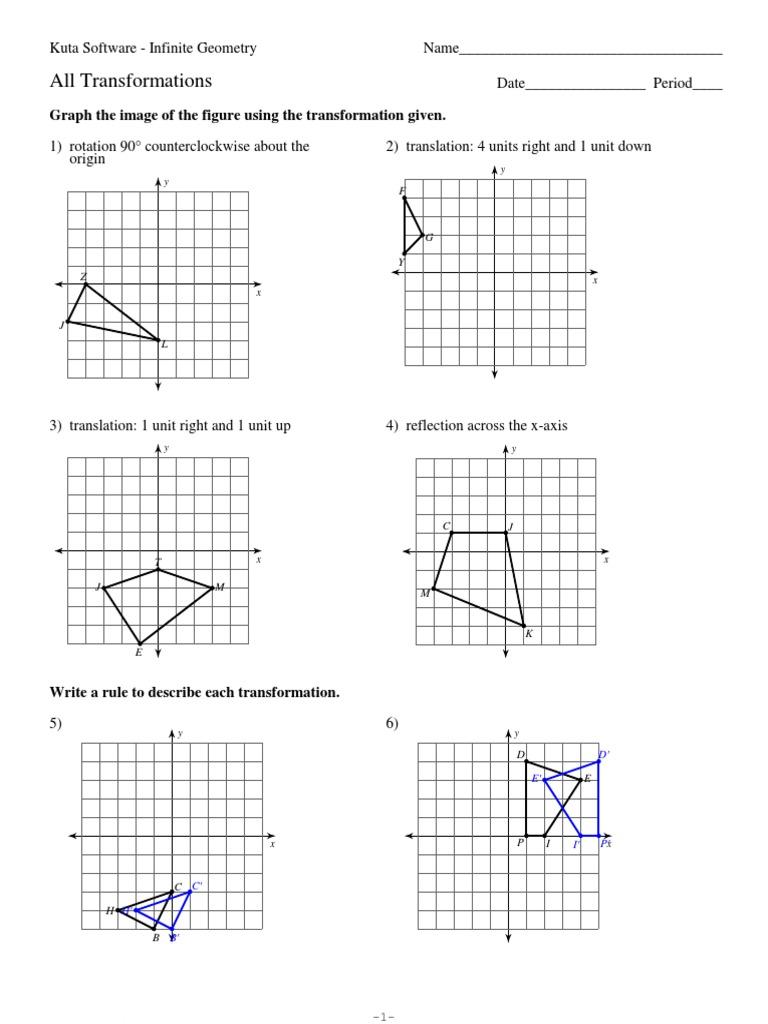 translation reflection rotation worksheet pdf grade 4