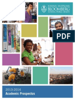 2013-2014-Prospectus Johns Hopkins Bloomberg Public Health