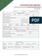 International Student Application Enrrollment Application