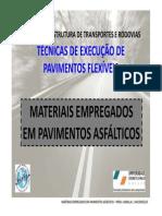 1 - Materiais Empregados Em Pavimentos Asfalticos