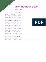 Equation of Neptinium Decay